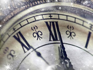 A photo of a clock face