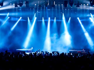 A photo of a concert
