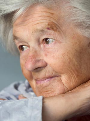 A photo of an elderly woman