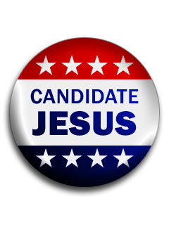A photo a button that reads Candidate Jesus