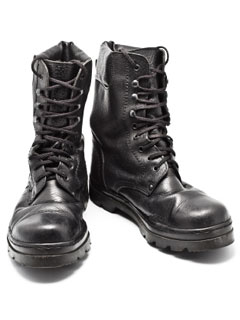 A photo of military boots