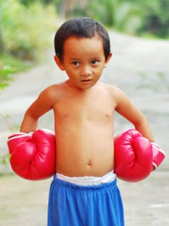 A photo of a young Philippine boy