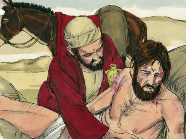 An illustration of a good samaritan