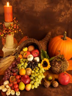 A photo of Thanksgiving items