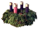 Photo of an Advent wreath