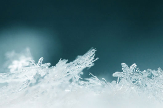 A photo of ice crystals
