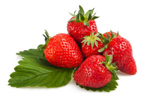 A photo of strawberries