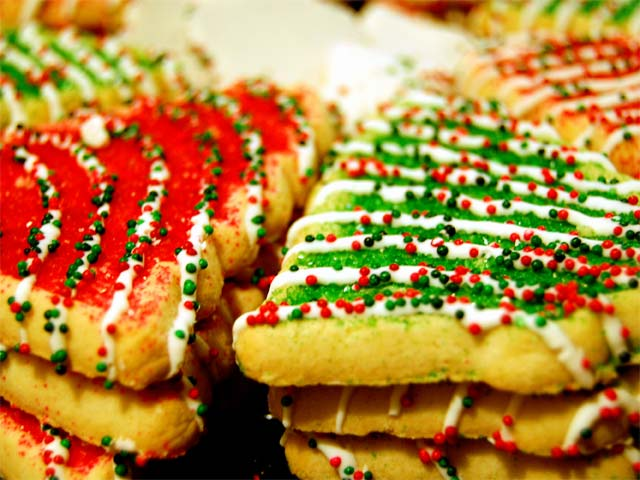A photo of Christmas cookies