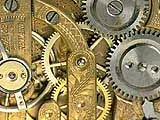 Photo of the gears inside a clock