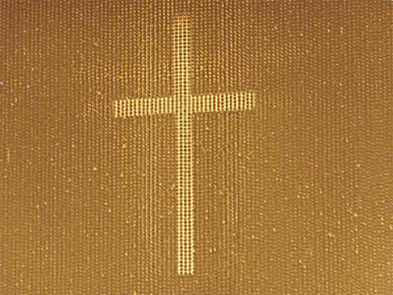 A photo of a cross texture