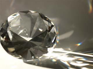 A tight photo of a diamond