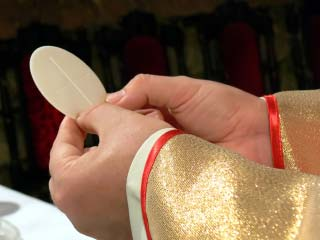 A photo of the eucharist