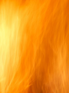 A photo of a bright orange fire