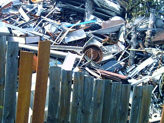 A photo of a pile of junk