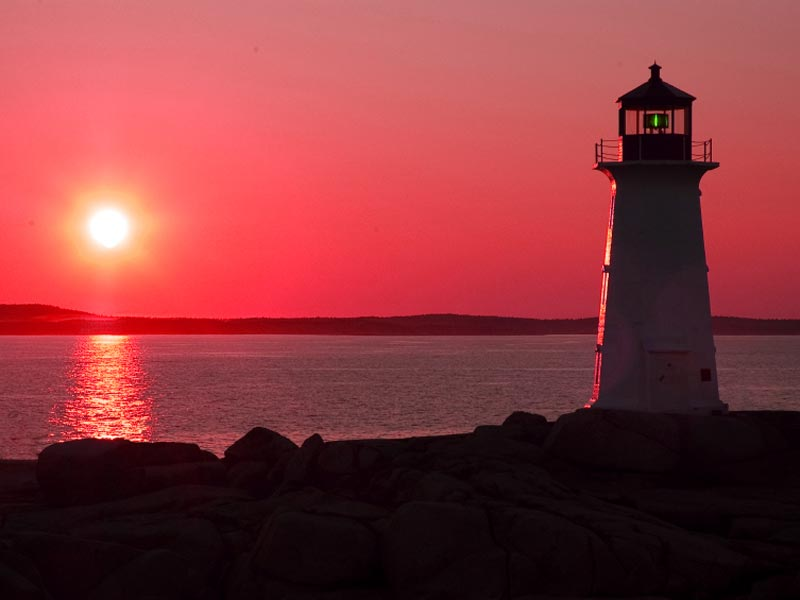 A photo of a lighthouse