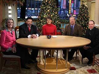 Photo of Bishop Lori on the set of Good Morning America