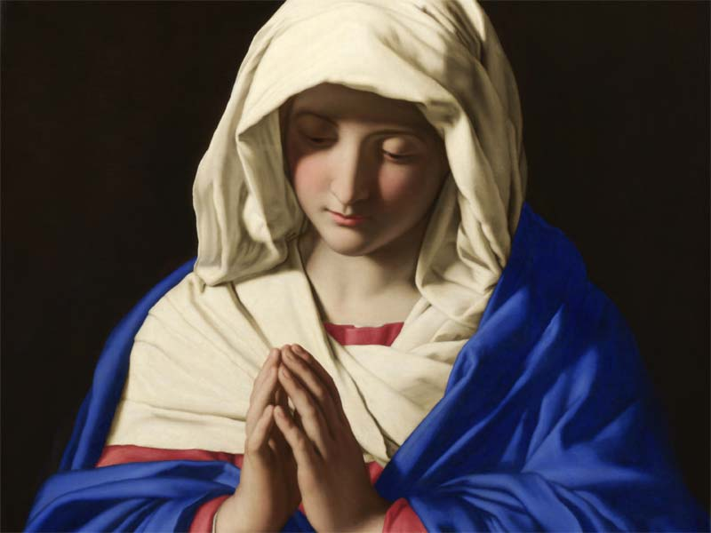 A photo of the Virgin Mary