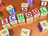 Photo of blocks spelling out the word School
