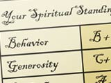 Illustration of spiritual standing report card