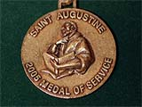 Photo of Saint Augustine 2005 medal of service award