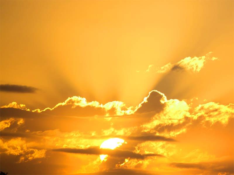 A photo of a vivivd sunset