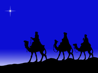 Image of the three kings on a blue background