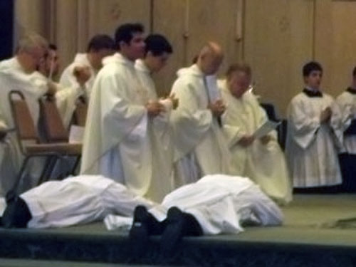 A photo of Priests on an alter