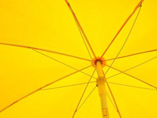 Photo of a yellow umbrella